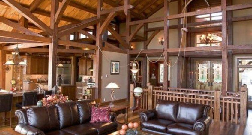 Mountain Lodge Feel Home Design Ideas Remodel