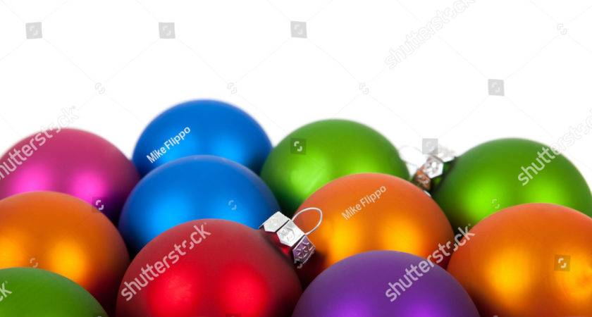 Multi Colored Christmas Ornaments Baubles Including Pink