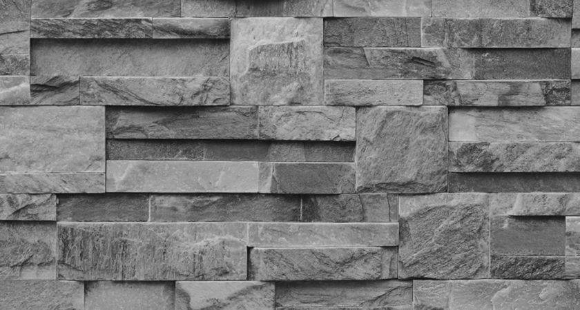 Muriva Bluff Slate Stone Block Brick Effect Grey