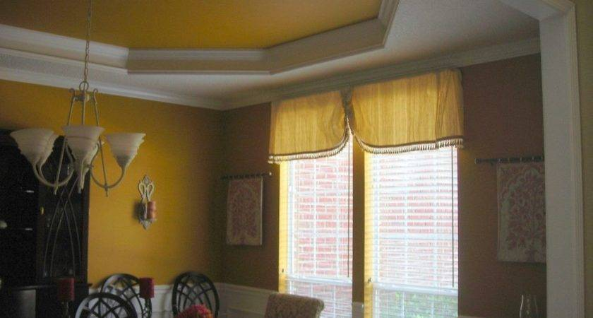 Mustard Walls Dining Room Traditional White Crown Molding