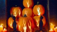 Myscaryblog Pumpkin Fireplace