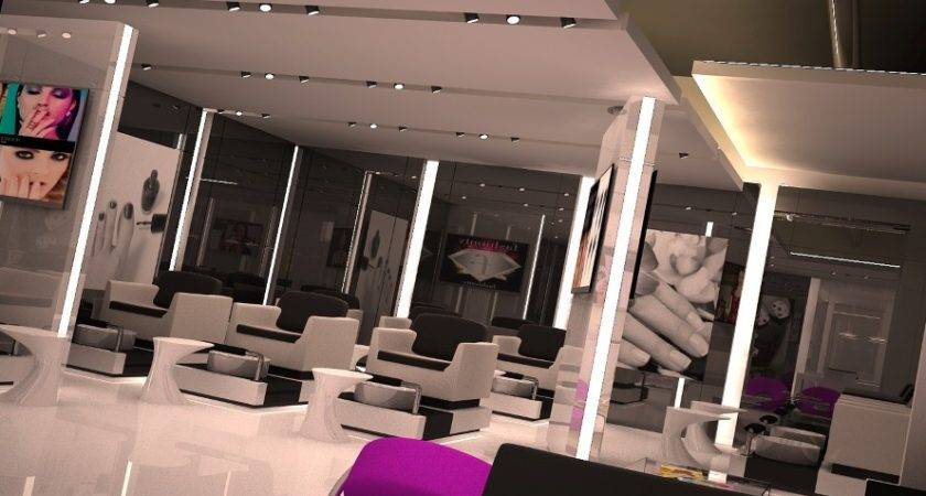 Nail Bar Commercial Interior Design Like Other Dubai