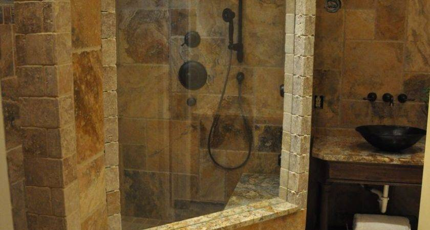 Natural Stone Wall Beautiful Bathroom Designs Glass