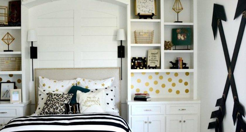 Navy Blue White Gold Bedroom Contemporary Black