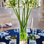 Navy Blue White Wedding Table Decorations