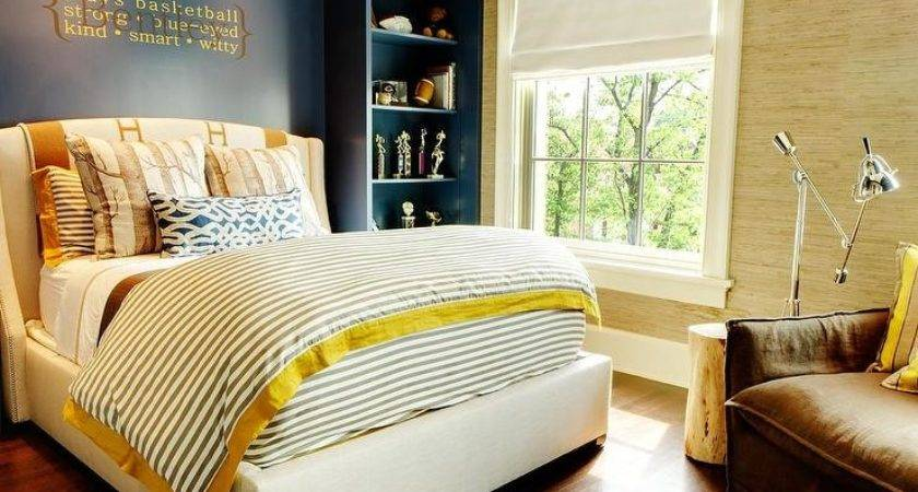 Navy Blue Yellow Room Design Ideas