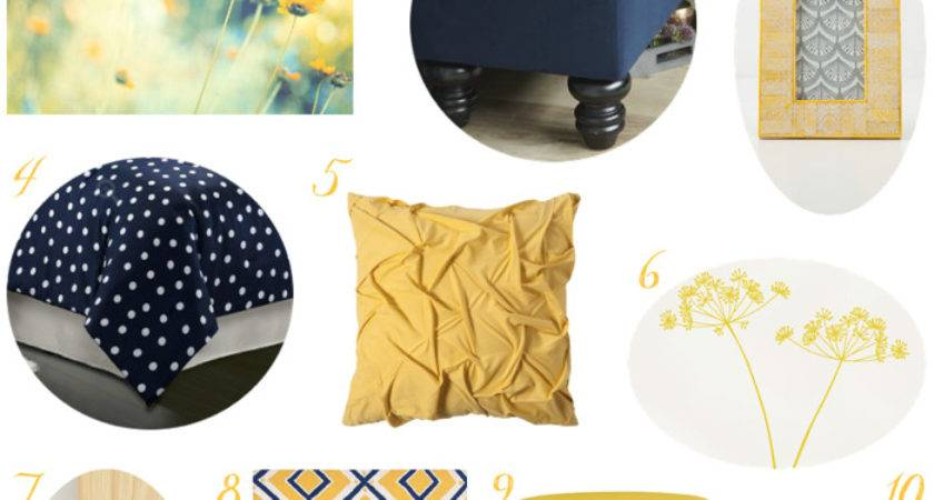 Navy Yellow Bedroom Decor