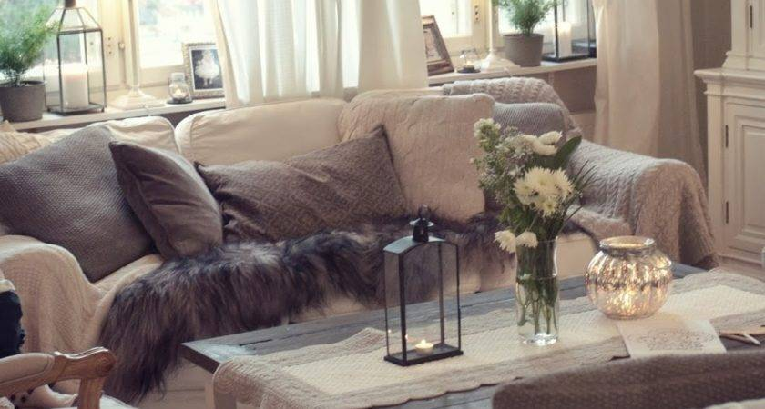 Neutral Color Pallet Living Room Looks Warm Cozy