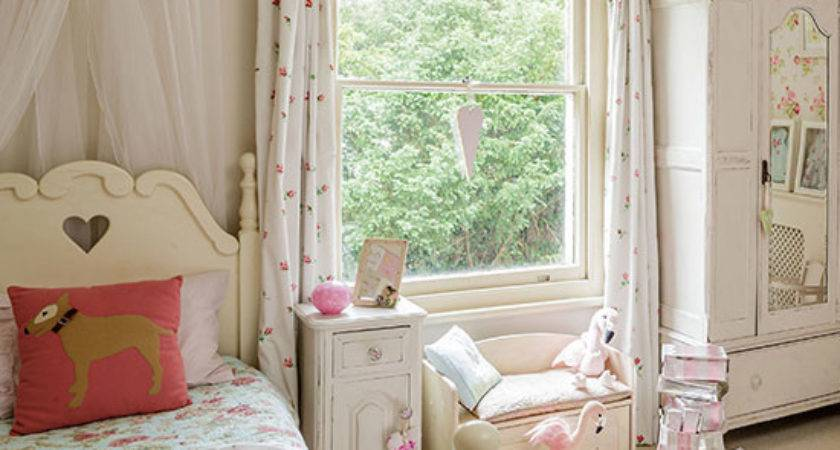 Neutral Shabby Chic Girl Bedroom Decorating Ideal Home