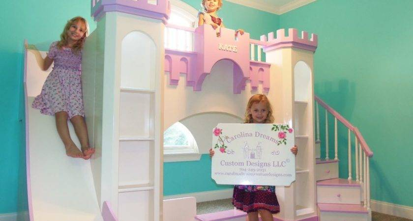New Custom Princess Kate Castle Loft Bunk Bed Indoor