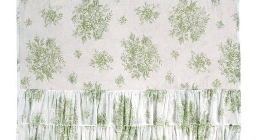 New French Country Cottage Chic Sage Green Ruffled Rose