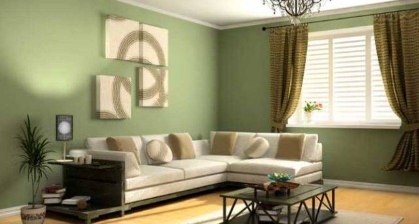 New Green Living Room Design Concept Ideas Home Scenery