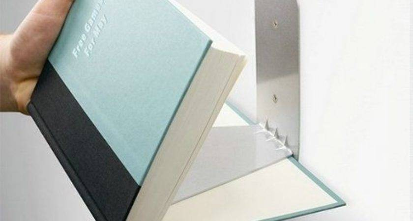 New Silver Conceal Invisible Wall Mounted Floating Book