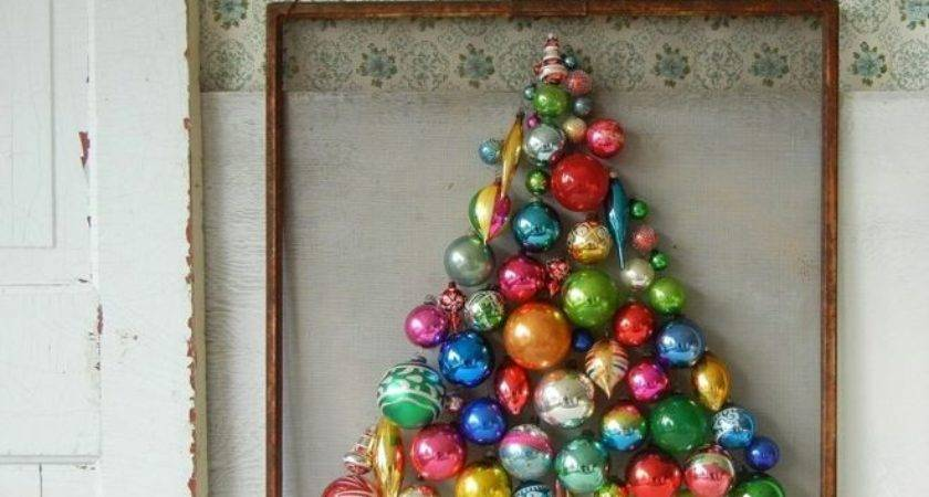 New Uses Old School Christmas Ornaments