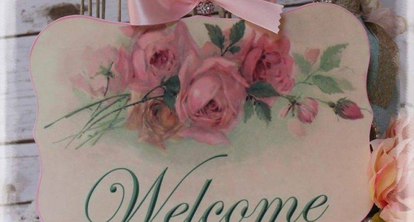 New Welcome Vintage Shabby Chic Country Cottage Style