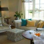 New Yellow Gray Turquoise Living Room Dining