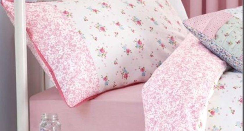 Next Vintage Ditsy Floral Single Lace Trim Bed Set Girls