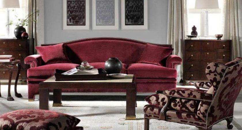 Nickbarron Burgundy Living Room Decor
