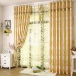 Noble Bedroom Living Room Light Yellow Curtains