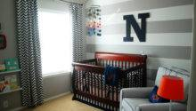 Nolan Grey White Navy Baby Boy Nursery Project