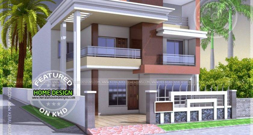 North Indian Style Flat Roof House Floor Plan Home