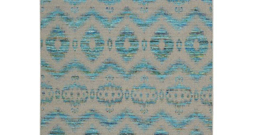 Nourison Spectrum Turquoise Gray Rug Reviews Wayfair