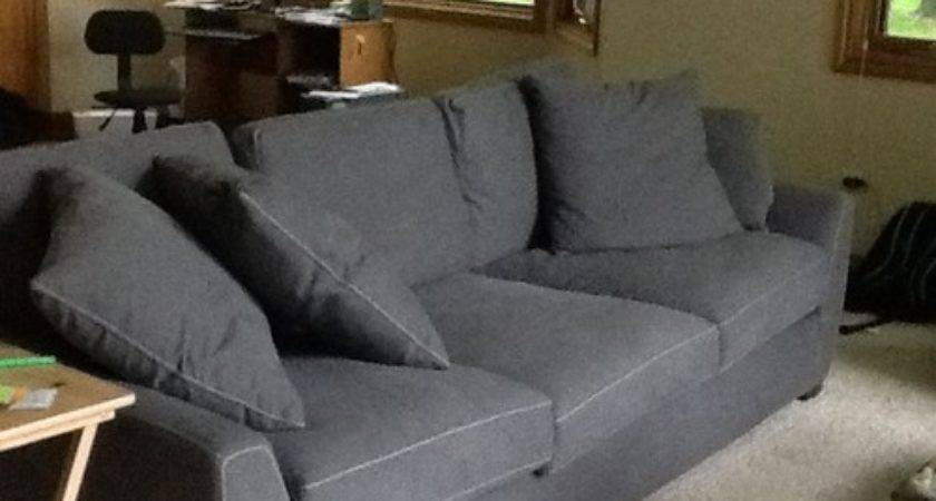 Oak Trim Throughout Dark Grey Sofa Color