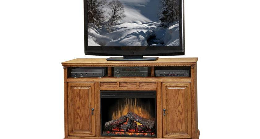 Oak Wood Stand Cabinet Gas Fireplace Insert