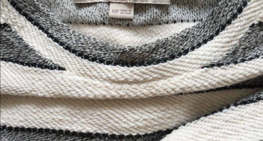Off Loft Sweaters Cotton Striped Woven Cropped
