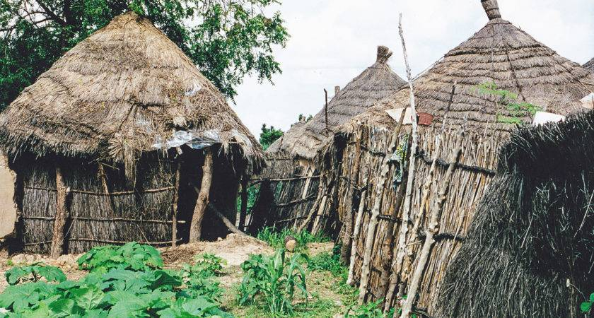 Old Simpel Primitive Houses Gambia Village