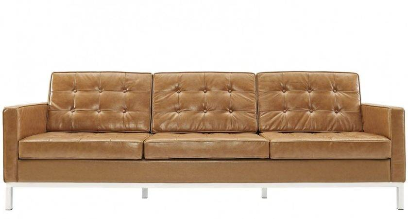Old Vintage Brown Leather Seater Tufted Sofa