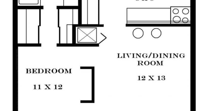One Bedroom Efficiency Apartment Plans Dog Trot Cabin Plan