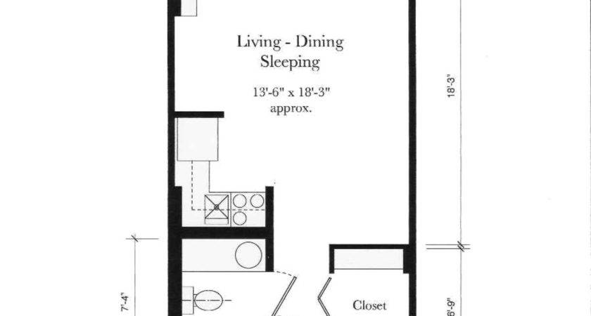 One Bedroom Efficiency Apartment Plans Home Design