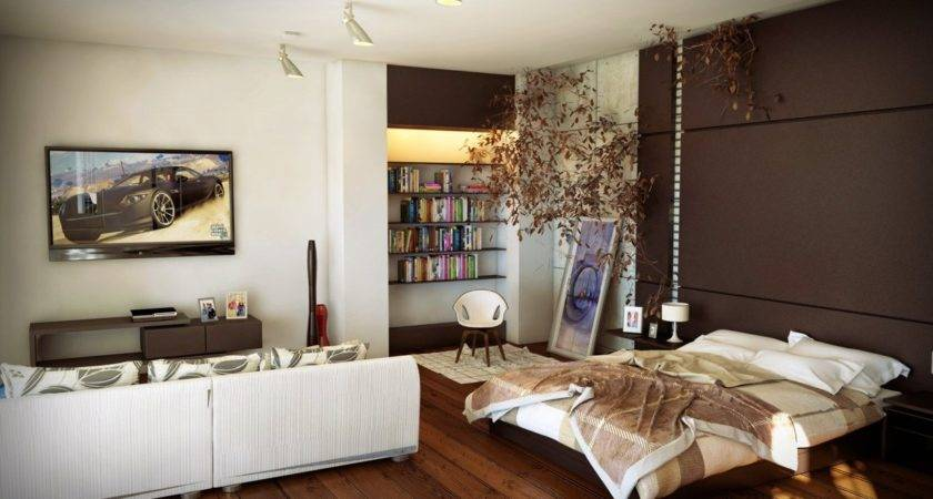 One Room Apartment Design Interior Ideas