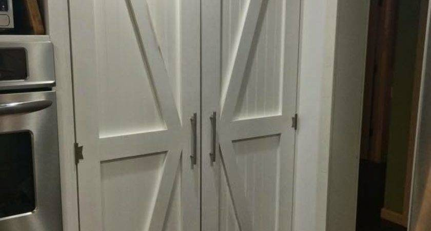 One Thrifty Chick Diy Barn Style Pantry Doors