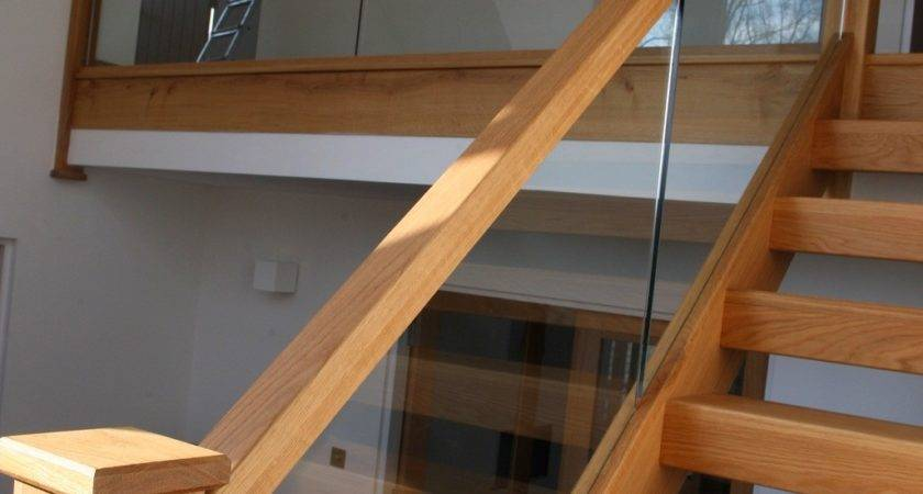 Open Plan Oak Glass Staircase Stairbox Staircases