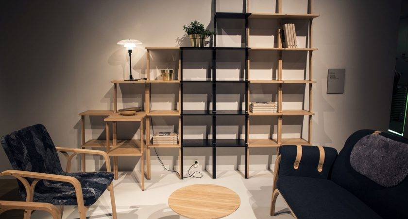 Open Wooden Shelves Bringing Modularity Decorating