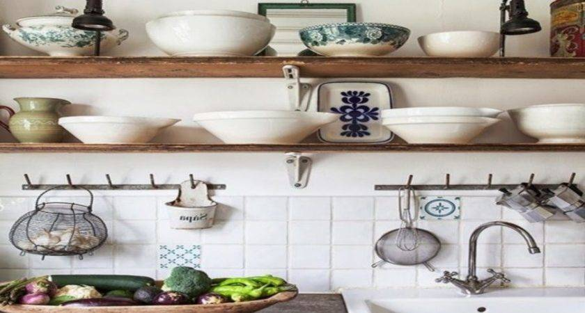 Open Wooden Shelving Kitchen Shelves Instead