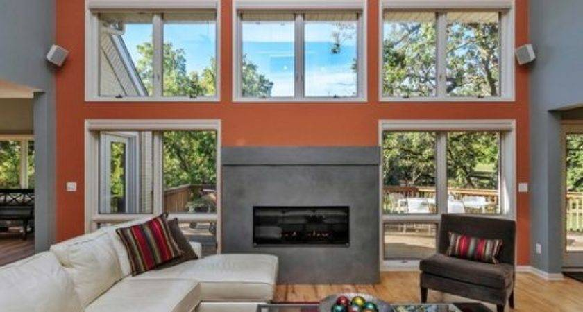 Orange Accent Wall Houzz