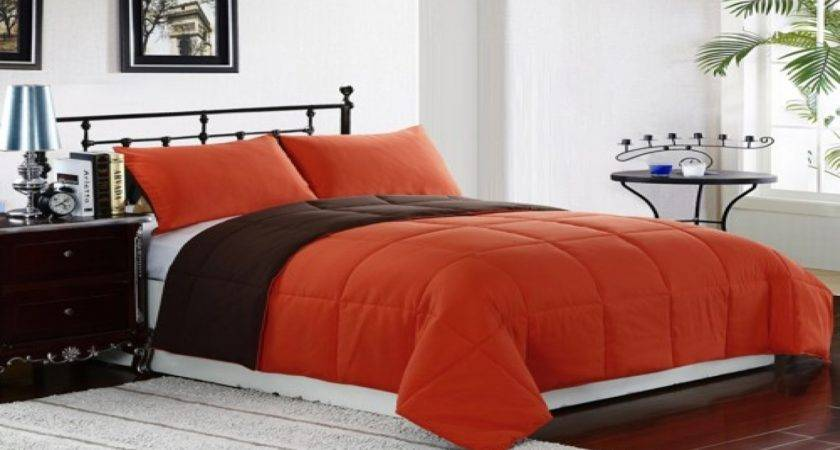 Orange Brown Bedroom Comforter Sets King