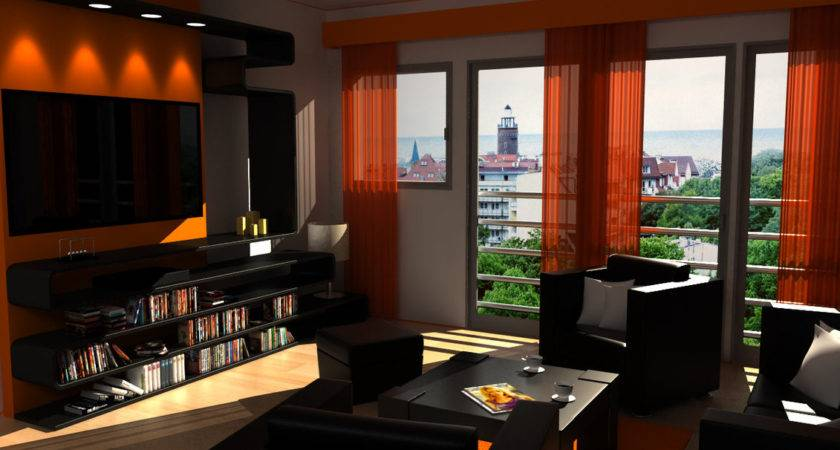 Orange Brown Black Living Room Ideas Decobizz