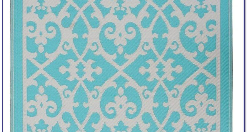 Orange Turquoise Outdoor Rug Rugs Home Decorating