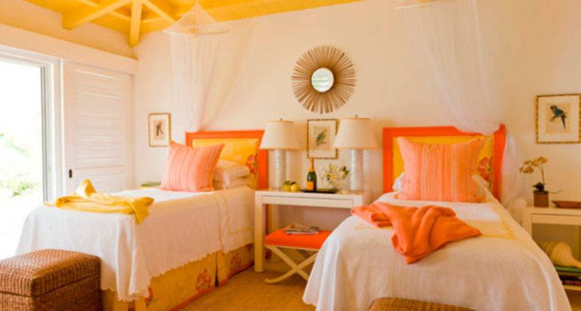 Orange Yellow Bedroom Design Ideas Interior