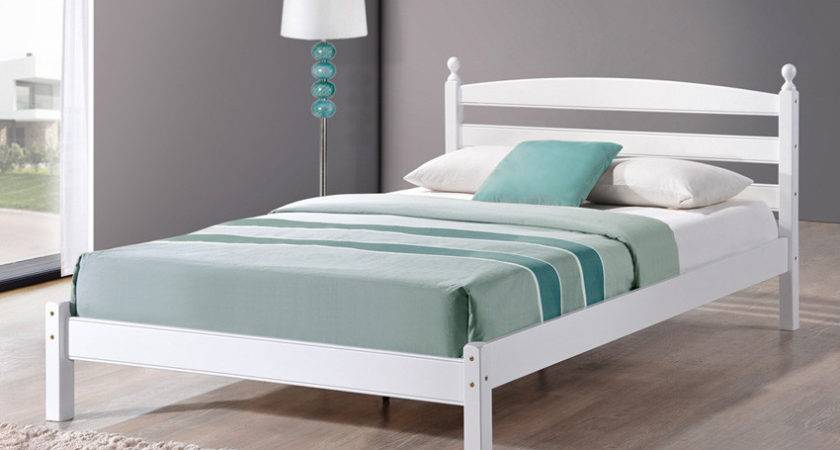 Oslo White Wooden Small Double Bed Only