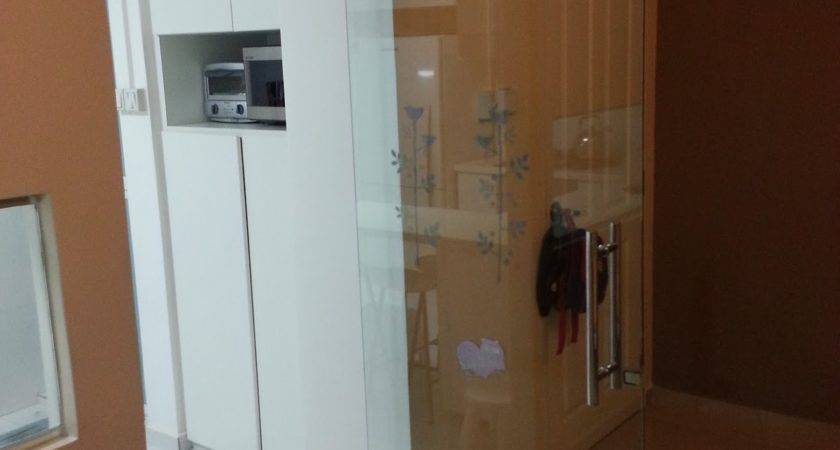 Our Hdb Flat Renovation Glass Door Kitchen