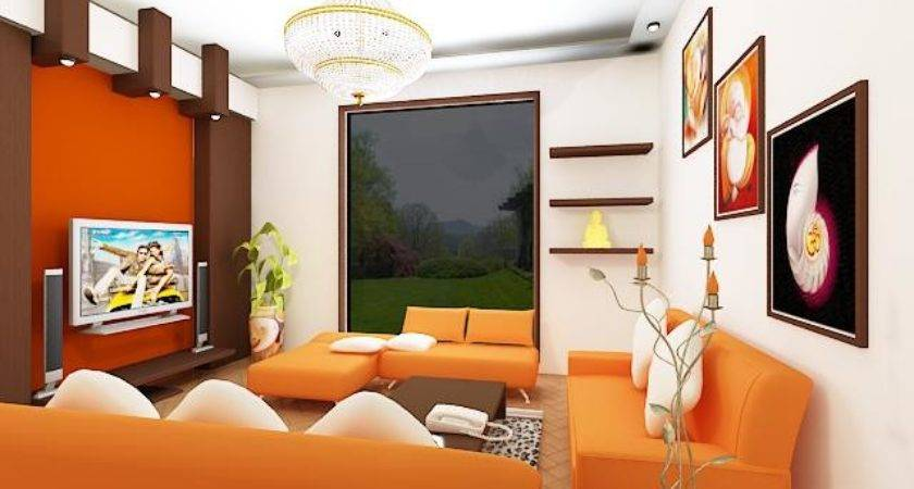 Oustanding Living Room Designs Orange Motifs