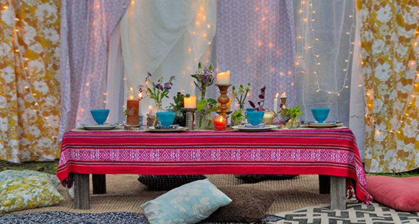 Outdoor Bohemian Style Summer Party Beautiful Matters