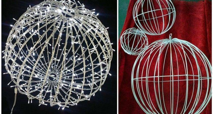 Outdoor Christmas Lighted Balls Warm White