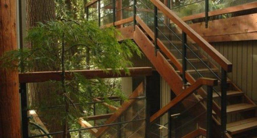 Outdoor Stair Railing Home Design Ideas Remodel