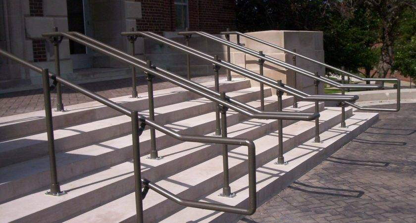 Outdoor Stair Railing Kits Modern Metal Ada